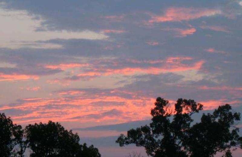 Sunset at Black Bear Cabin Rentals.