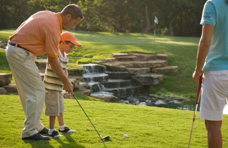 Golf lessons at Hyatt Regency Lost Pines Resort and Spa.
