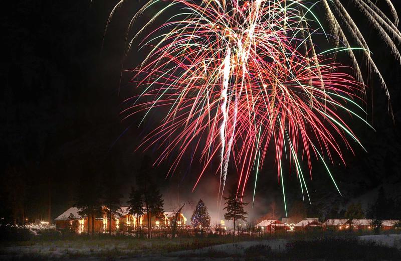 Fireworks at Quinn's Hot Springs Resort