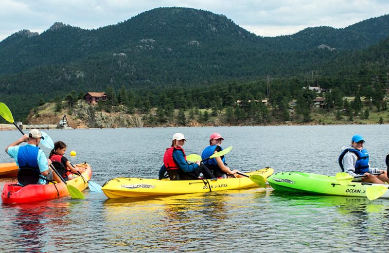 Kayaking at Wind River Ranch.