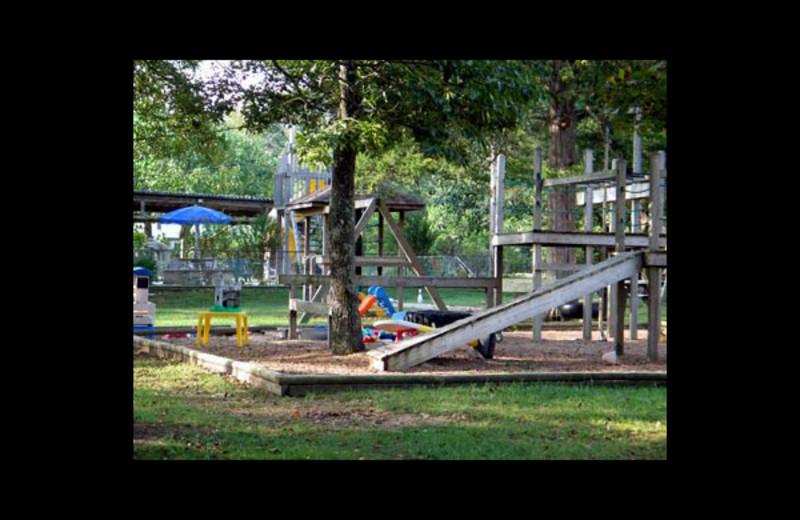 Kid's playground at Green Valley Resort.