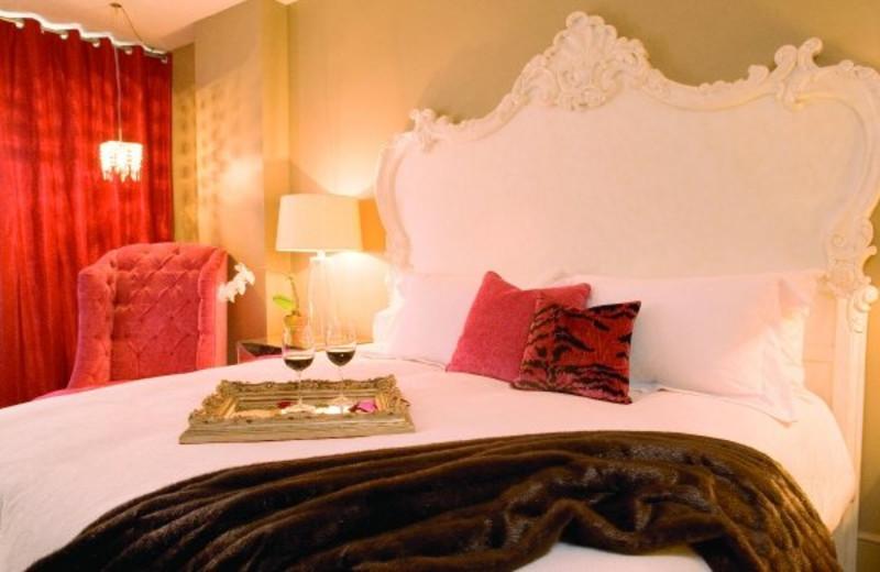 Guest room at Mansion on Forsyth Park.