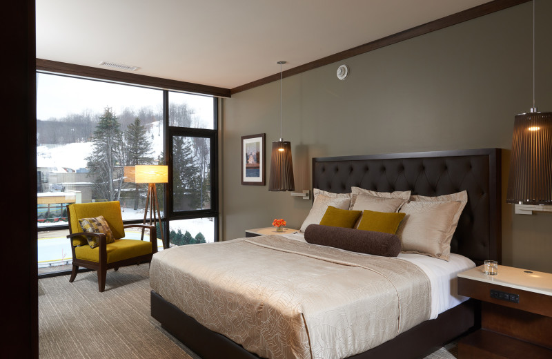 Guest room at Crystal Mountain Resort.