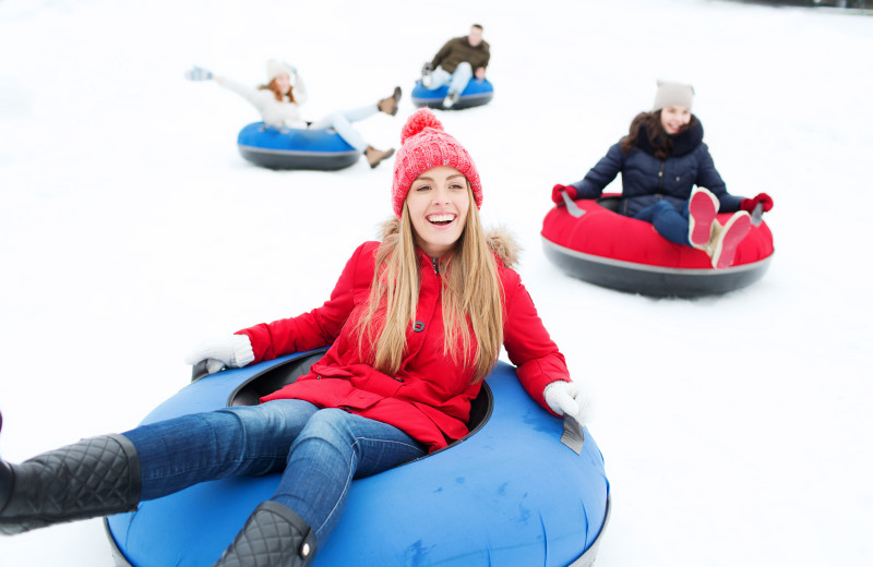 Snow tubing at Fairway Suites At Peek'n Peak Resort.