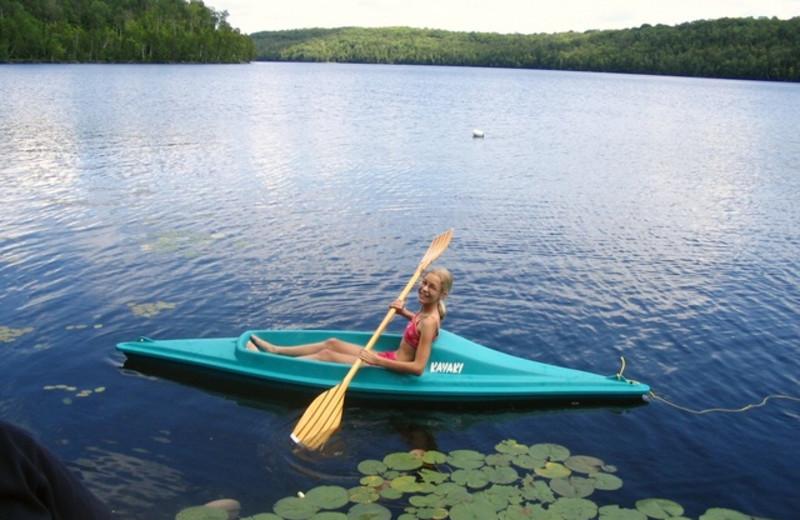 Kayaking at Northern Lights Resort.