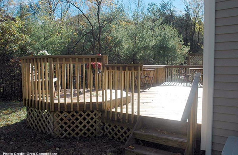 Porch view at Moondance Ridge Bed & Breakfast.