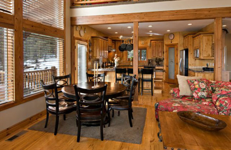Vacation rental interior at Zion Ponderosa Ranch.
