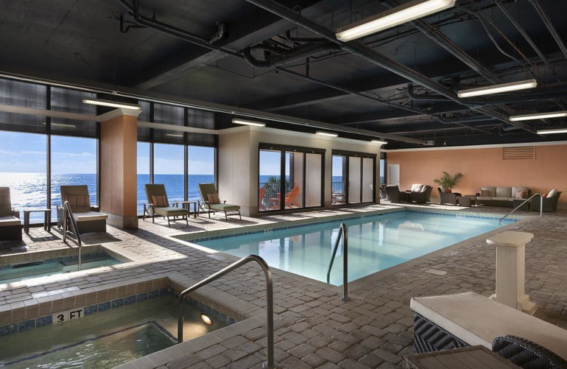Indoor pool at Sands Resorts.