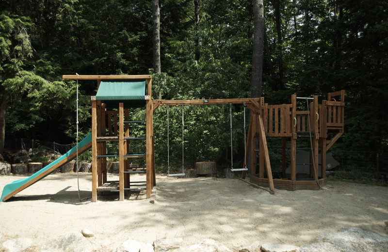 Playground at Cottage Place on Squam Lake.