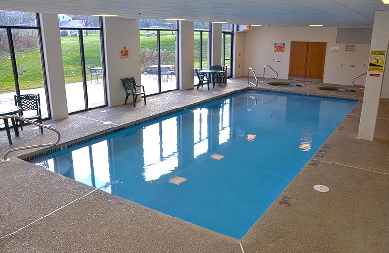 Indoor pool at Golden Eagle Lodge.