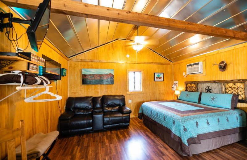 Cabin interior at Walnut Canyon Cabins.