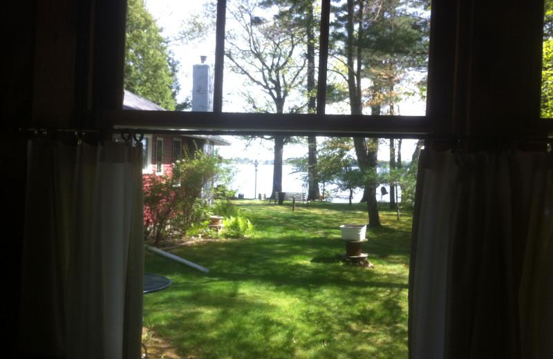 Lake view from cabin at Radtke's Sabinois Point Resort.