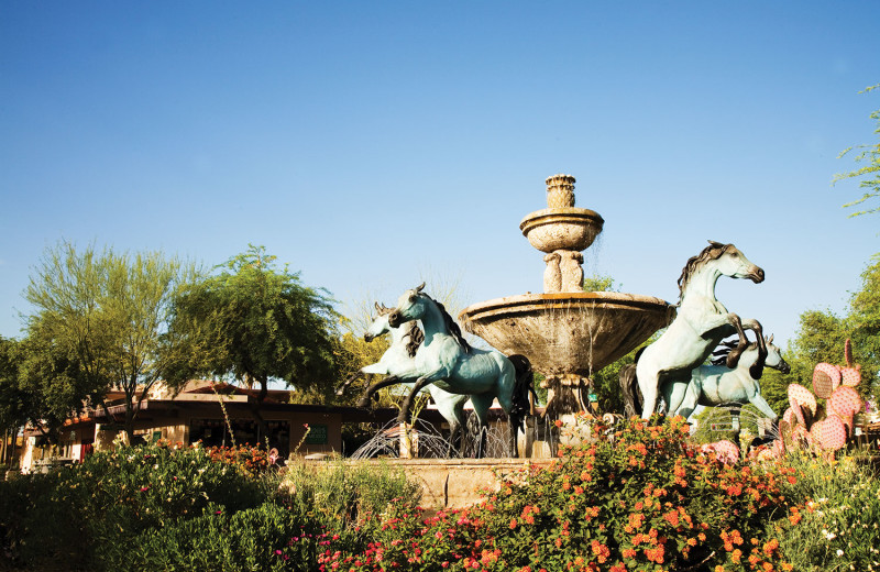 Fountain near SkyRun Vacation Rentals - Scottsdale, Arizona.
