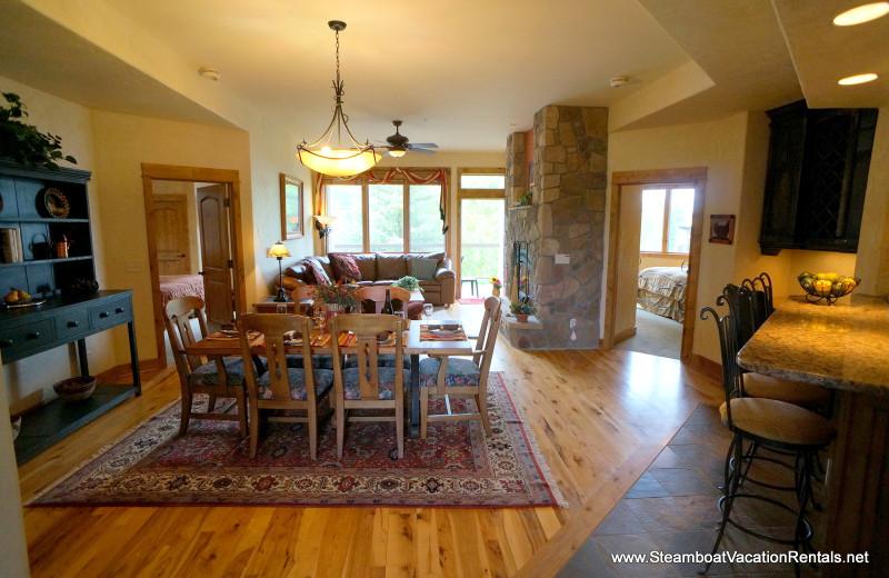 Rental interior at Steamboat Vacation Rentals.