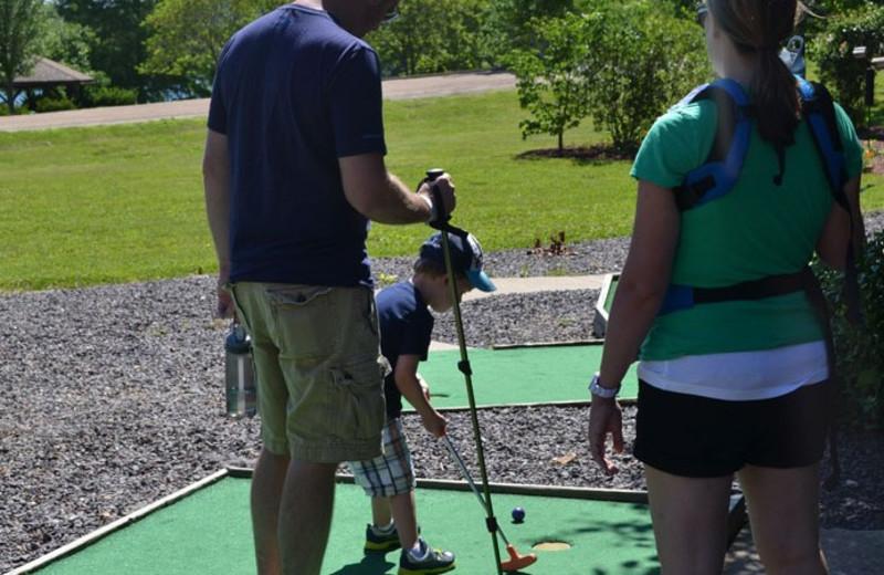 Mini Golf at YMCA Trout Lodge & Camp Lakewood.