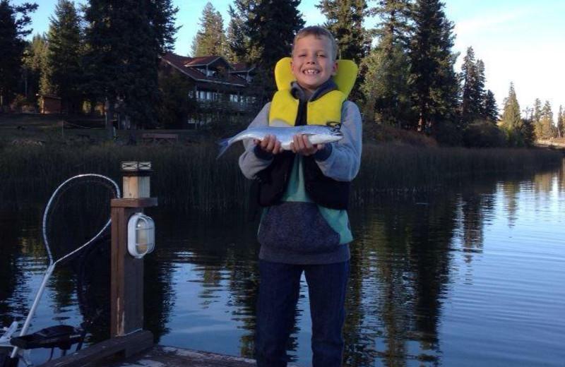 Fishing at Tyee Lake Lodge.