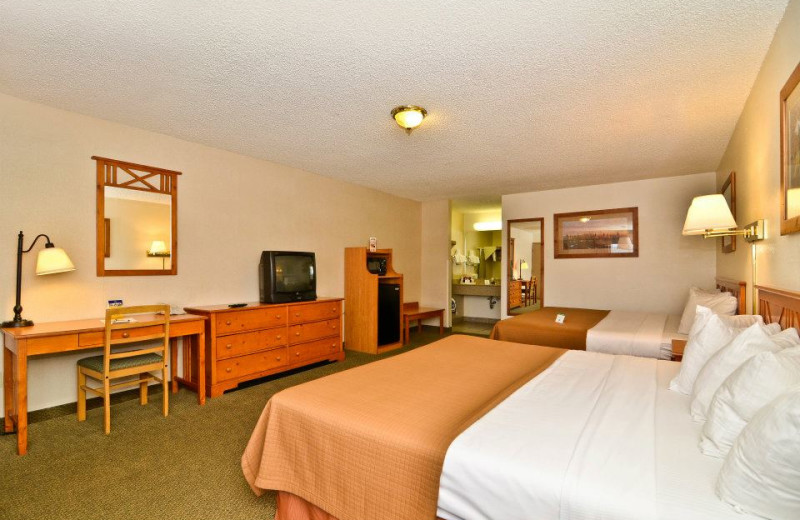 Guest bedroom at Ruby's Inn.
