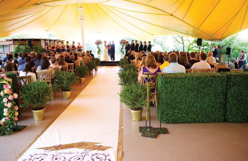 Outdoor wedding ceremony at Grand Traverse Resort.