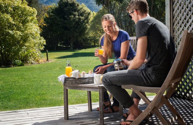 Breakfast at Abel Tasman Marahau Lodge.
