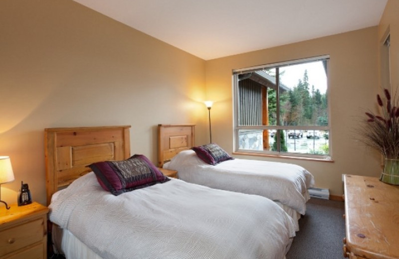 Vacation rental bedroom at Whistler Premier Resort.