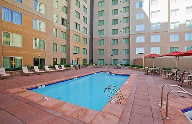 Outdoor pool at Residence Inn Sacramento Downtown at Capitol Park.