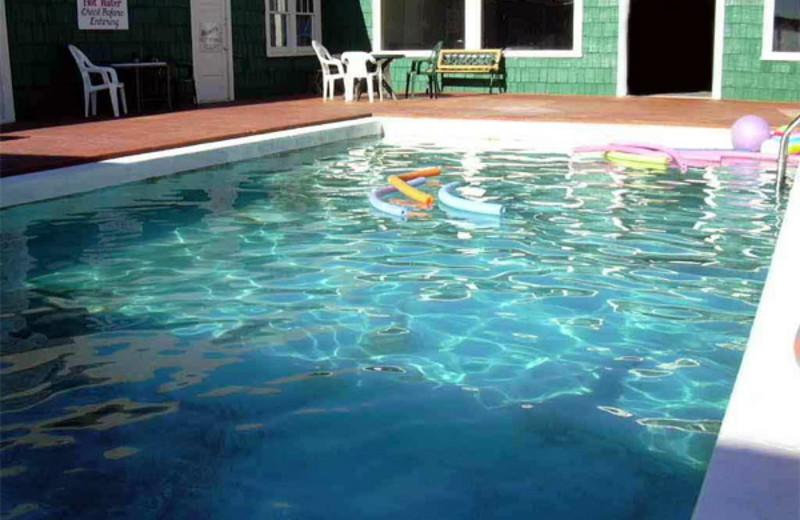 Outdoor pool at Hunter's Hot Springs Resort.
