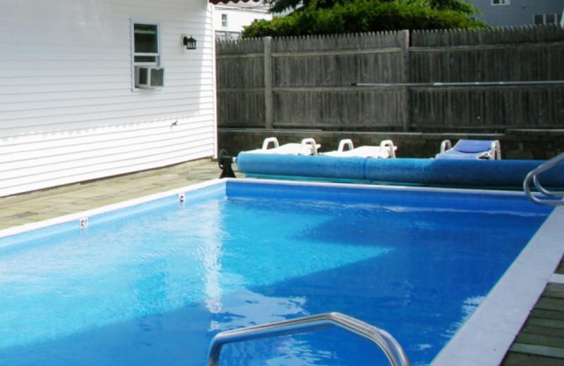 Outdoor pool at Alouette Beach Resort.