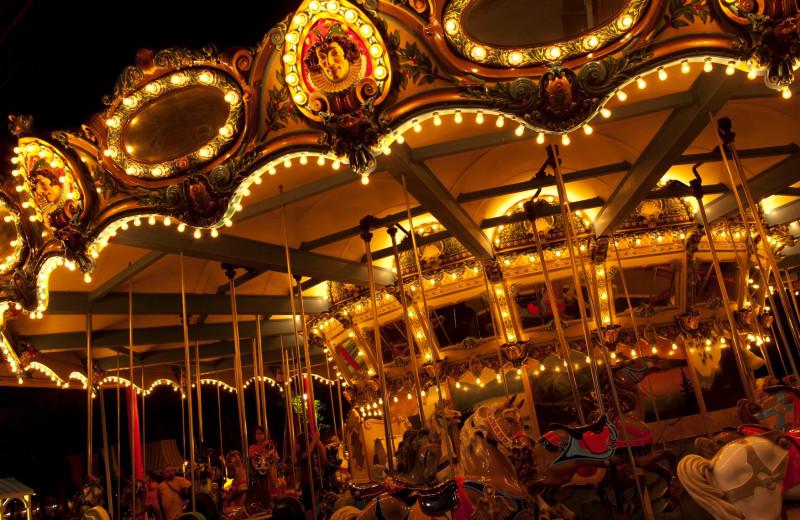 Merry-go-round at Cedar Point Resort.