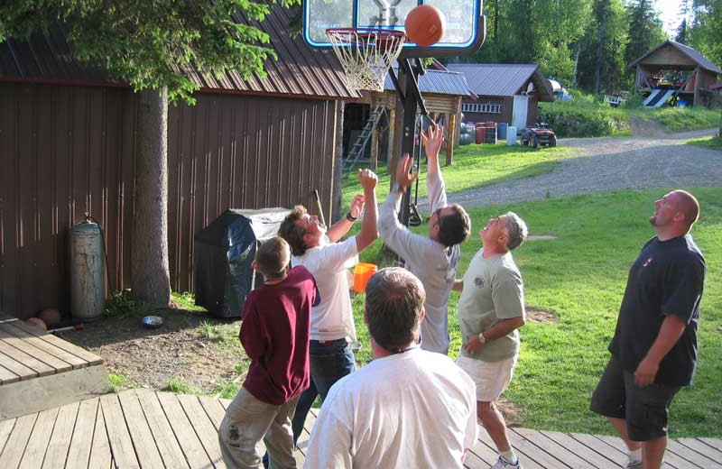 Basketball at Northwoods Lodge.