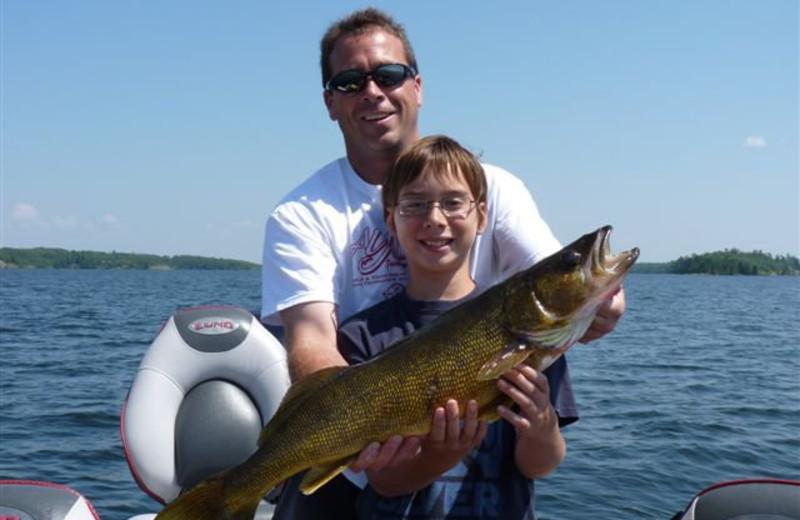 Fishing at North Country Lodge