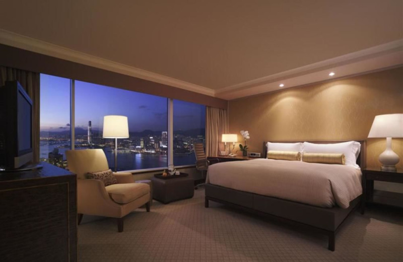 Guest room at Conrad Hong Kong.