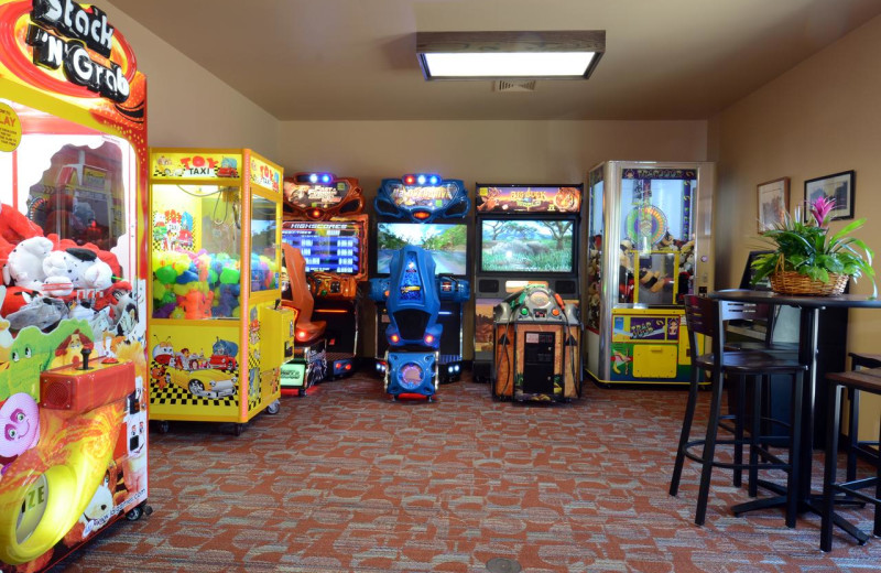 Arcade at Baker's Sunset Bay Resort.