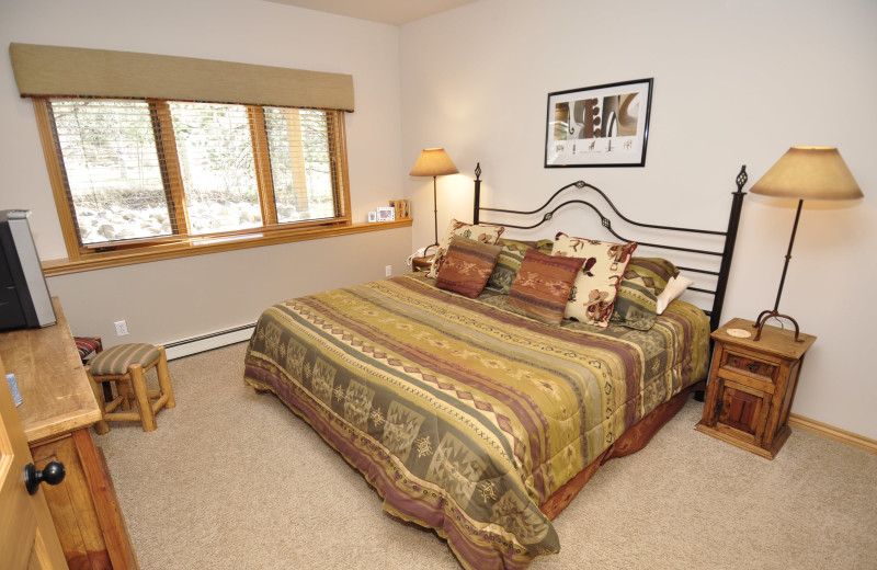 Rental bedroom at Steamboat Lodging Properties.