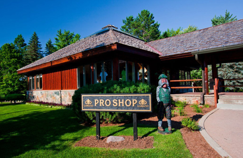 Golf shop at Garland Lodge & Resort.