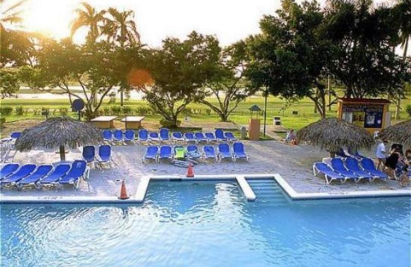 Outdoor pool at Occidental Playa Dorada.