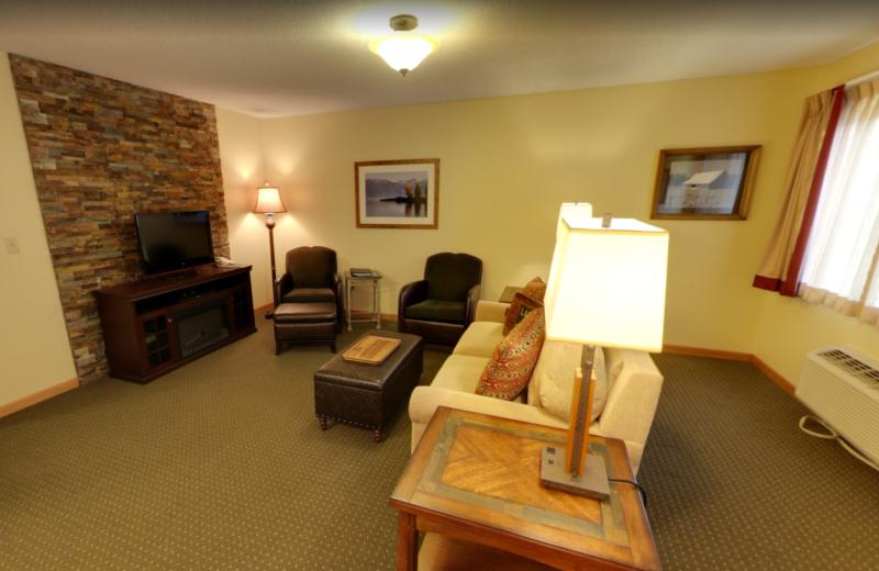 Guest living room at Stoneridge Resort.