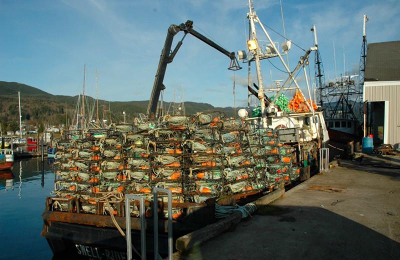 Crab boat near The Garibaldi House Inn.