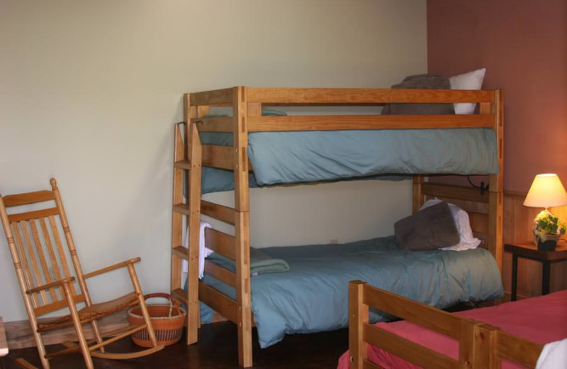 Guest room at Common Ground Center.
