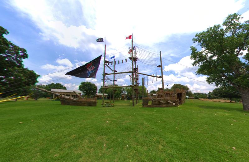 Pirate ship at Camp Champions on Lake LBJ.