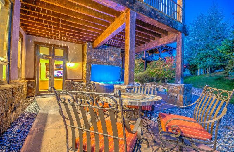 Rental patio at Retreatia.com.