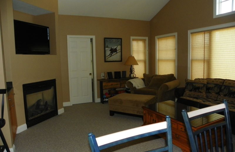 Rental living room at All Mountain Rentals.