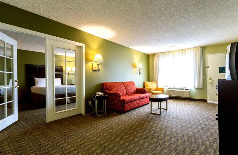 Guest suite at Anaheim InnSuites Hotel & Suites in Buena Park.