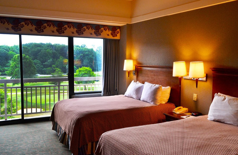 Guest room at Turf Valley Resort.