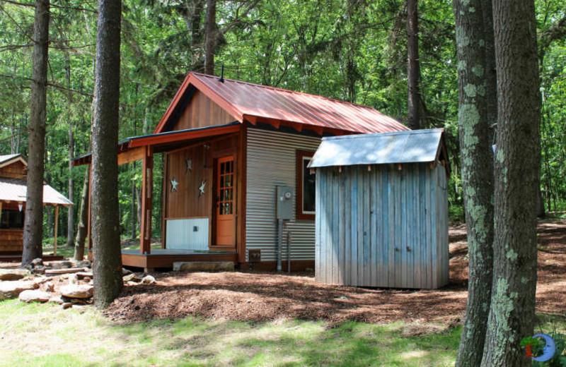 Tiny house exterior at Blue Moon Rising.