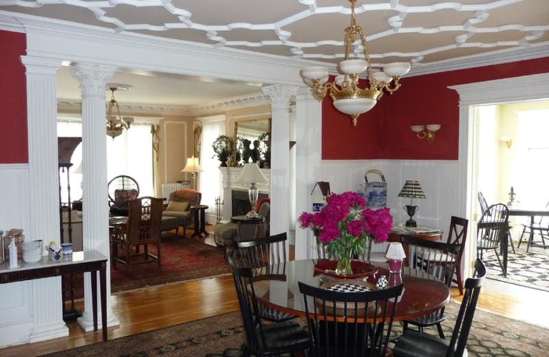 Dining room at Bartlett House Inn.