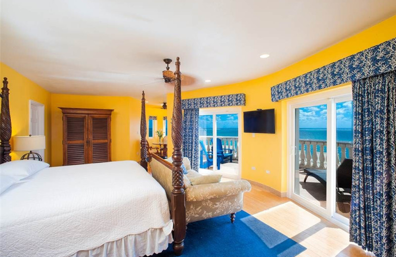 Guest room at Cayman Castle.