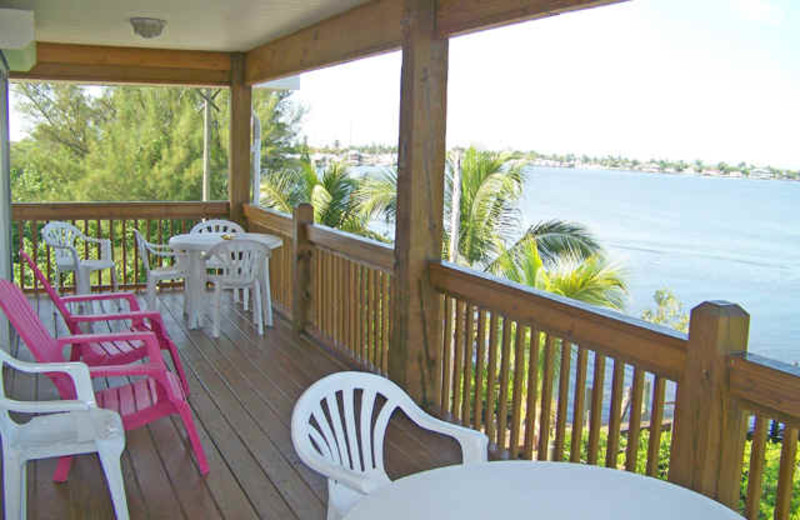 Deck view at Bayview Bed and Breakfast.