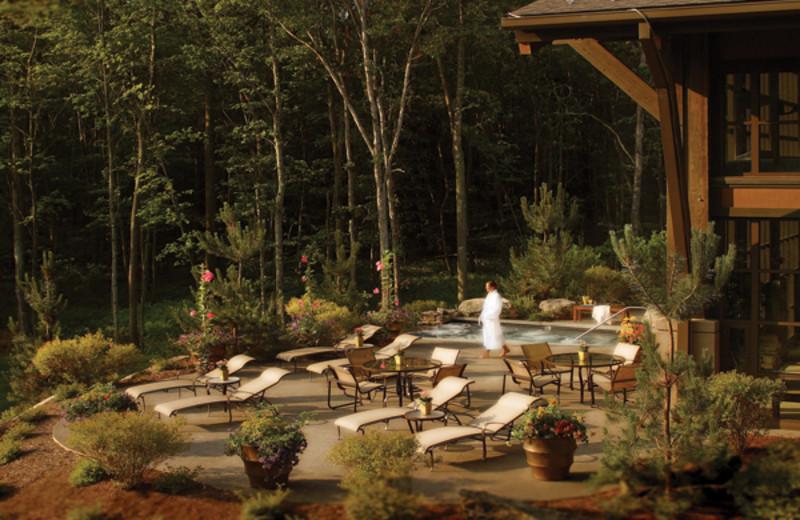 Sun deck at The Lodge at Woodloch.