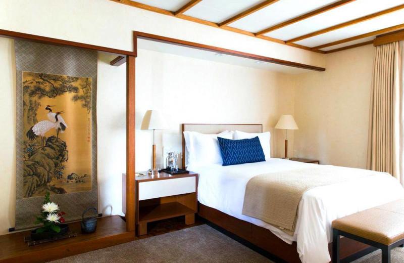 Guest room at Golden Door.