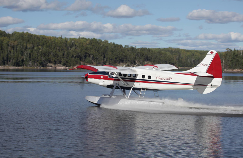 Plane on lake at Wilderness Air.